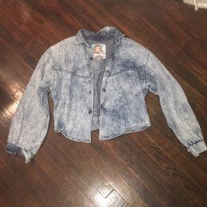 Vintage faded jean jacket